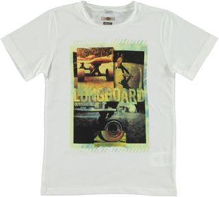 T-shirt 100% cotone con stampa fotografica  BIANCO-0113