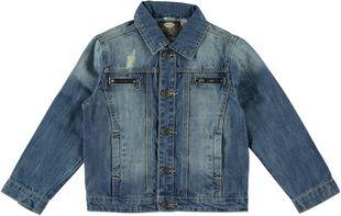 Giubbotto jeans con sabbiature e leggeri strappi  STONE BLEACH-7350