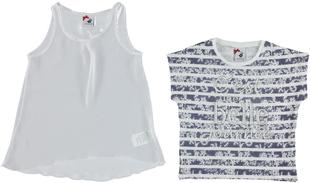 Fashion maxi maglia con maxi canotta sarabanda BIANCO - 0113