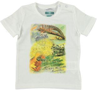 T-shirt 100% cotone con serigrafia colorata sarabanda BIANCO-0113