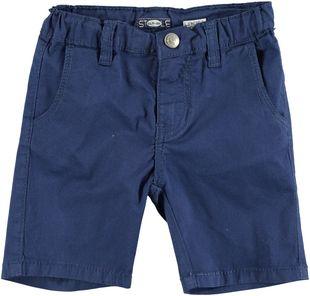 Pantaloncino corto slim in twill di cotone  NAVY-3547