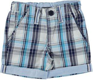 Pantalone corto a quadri 100% cotone sarabanda TURCHESE - 4024