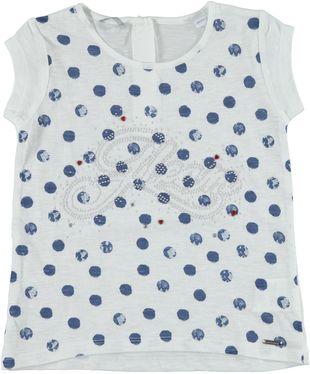 T-shirt 100% cotone fiammato con vestibilità a trapezio sarabanda BIANCO - 0113