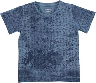 T-shirt in cotone 100% stampato tema nautica sarabanda PANNA-AVION - 6G31