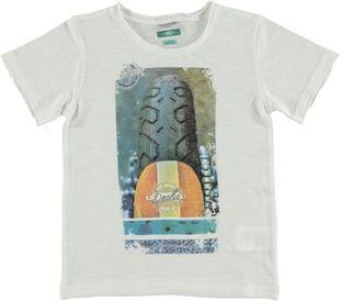 Grintosa t-shirt 100% cotone con tagli a vivo sarabanda BIANCO - 0113