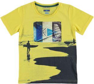 T-shirt in cotone 100% con stampa dedicata al mare  GIALLO - 1435