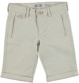 Pantalone corto sporty-chic in cotone elasticizzato sarabanda ECRU' - 0432