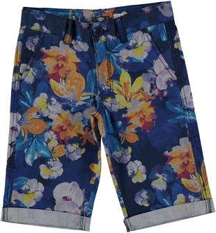Pantalone corto floreale in cotone sarabanda BIANCO-MULTICOLOUR - 6G40