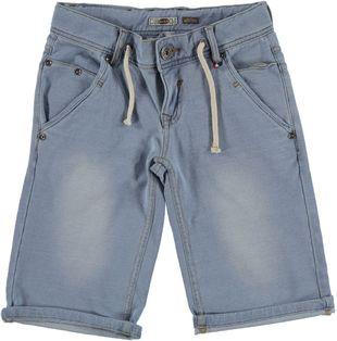 Pantalone corto in felpa di cotone effetto denim sarabanda BLU CHIARO LAVATO - 7310