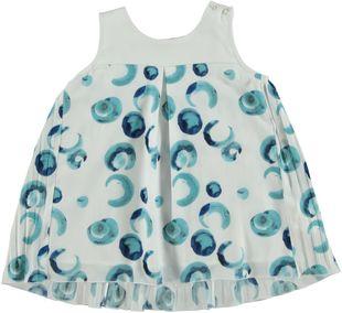 Fresca ed elegante camicia smanicata sarabanda BIANCO-POIS-6G56