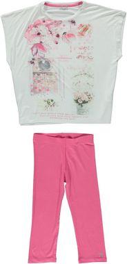 Fresco e comodo completo maxi-maglia e leggings in viscosa elasticizzata sarabanda ROSA - 2427