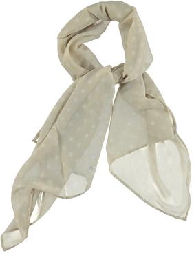 Deliziosa e raffinata pashmina in voile stampato sarabanda PANNA-BEIGE-6F47