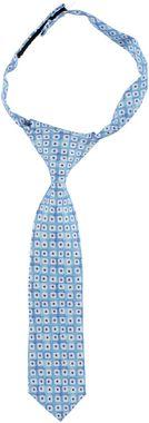 Cravatta con nodo realizzata in microfantasia sarabanda BIANCO TURCHESE - 6F37