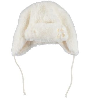 Cappello in ecopelliccia per bambina sarabanda PANNA - 0112