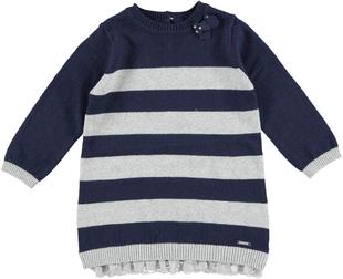 Vestito in tricot a righe sarabanda NAVY - 3854