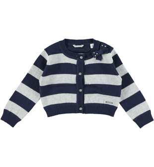 Cardigan corto a righe sarabanda NAVY - 3854