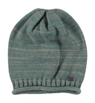Berretto per bambino in tricot misto cotone e lana sarabanda VERDE SCURO - 4254