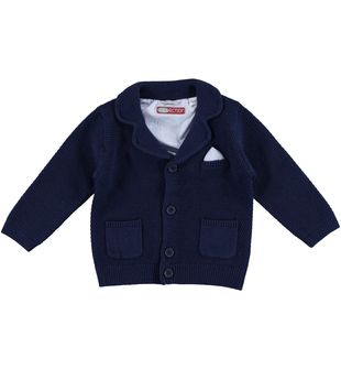 Giacca in lana e cotone per bambino sarabanda NAVY-3854