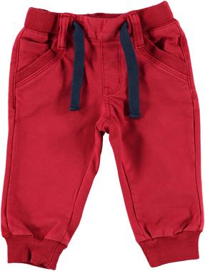 Pantalone bambino in cotone garzato con fettuccia coulisse sarabanda ROSSO - 2259