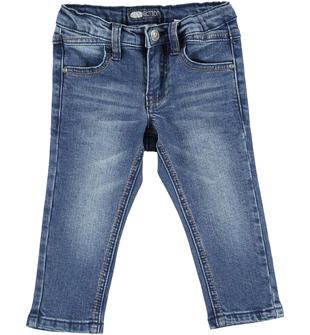 Pantalone jeans slim fit effetto delavato sarabanda BLU - 7750