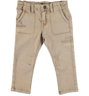 Morbido e caldo pantalone slim fit sarabanda BEIGE - 0414