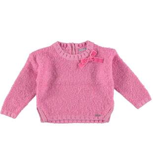 Maglia girocollo in tricot bouclè  CICLAMINO-2812