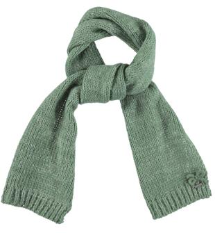Sciarpa per bambina in tricot melange sarabanda VERDE SALVIA - 4715