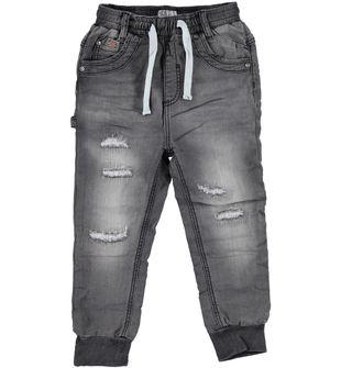 Pantalone bambino modello joggers con cavallo calato  GRIGIO SCURO-7993