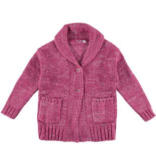 Cardigan mélange per bambino in misto lana, acrilico e mohair sarabanda CIPOLLA - 3022