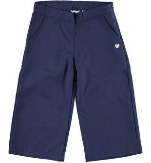 Morbidi e alla moda pantaloni bambina modello cropped sarabanda NAVY-3854