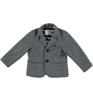 Elegante giacca in tessuto operato melange sarabanda NAVY-3854