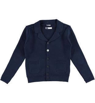 Cardigan in tricot 100% cotone sarabanda NAVY-3854