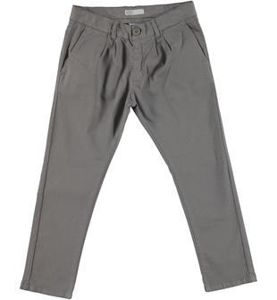 Pantalone in tessuto stretch jacquard con cavallo calato e pinces sarabanda FANGO-0612