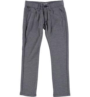Pantalone slim fit in morbido tessuto effetto melange sarabanda NAVY-3854