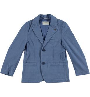 Elegante giacca in gabardina di cotone con fantasia micro pois stampata all over sarabanda AVION-3642