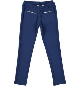 Pantalone punto Milano con pieghe laterali impunturate  NAVY-3547