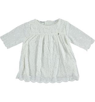 Blusa in pizzo smerlettato sarabanda PANNA-0112