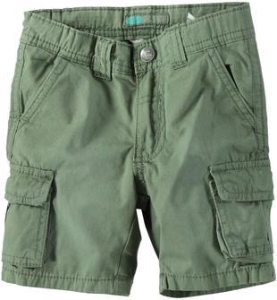 Pantaloncino modello cargo in popeline 100% cotone sarabanda VERDE SALVIA-4731