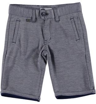 Pantaloncino slim in speciale tessuto operato effetto melange sarabanda NAVY-3854