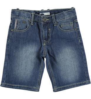 Pantaloncino in denim effetto vissuto 100% cotone sarabanda STONE WASHED-7450