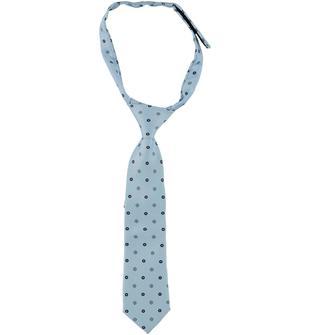 Cravatta annodata con fantasia clover sarabanda AZZURRO-BLU-6T65
