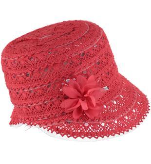 Cappellino modello borsalino in pizzo sarabanda CORALLO-2343