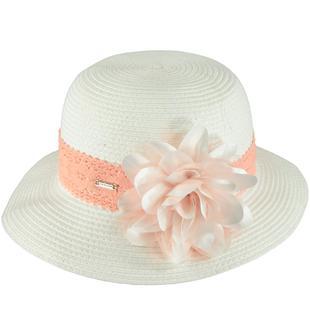 Raffinato cappellino realizzato in rafia sarabanda PANNA-0112