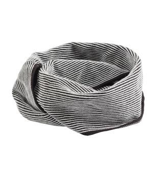 Scaldacollo in tricot effetto righe per bambino sarabanda NERO-0658