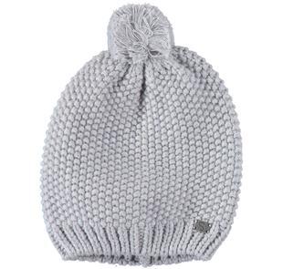 Cappello in tricot con pon pon per bambino sarabanda GRIGIO MELANGE-8992
