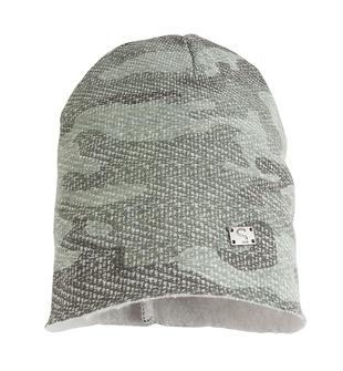 Cappello modello cuffia in felpa fantasia mimetica sarabanda GRIGIO-VERDE-6J26