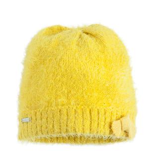Cappello modello cuffia in tricot lurex effetto pelliccia sarabanda GIALLO-1433