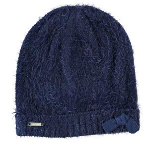 Cappello modello cuffia in tricot lurex effetto pelliccia sarabanda NAVY-3854
