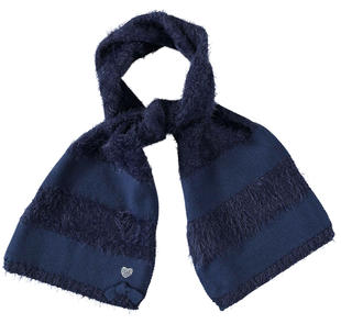 Sciarpa effetto pelliccia per bambina sarabanda NAVY-3854