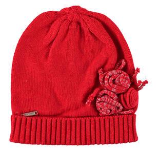 Cappellino modello cuffia con roselline lurex sarabanda ROSSO-2253